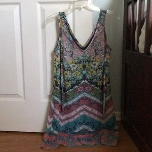 Brand New Rainbow Summer Dress